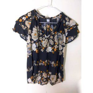 Old Navy V Neck Floral Top